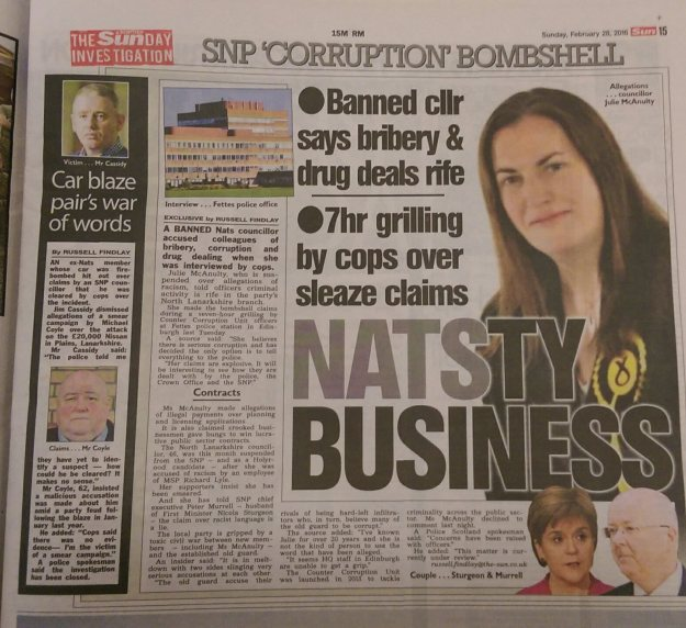 Scottish Sun on Sunday, 28/02/16