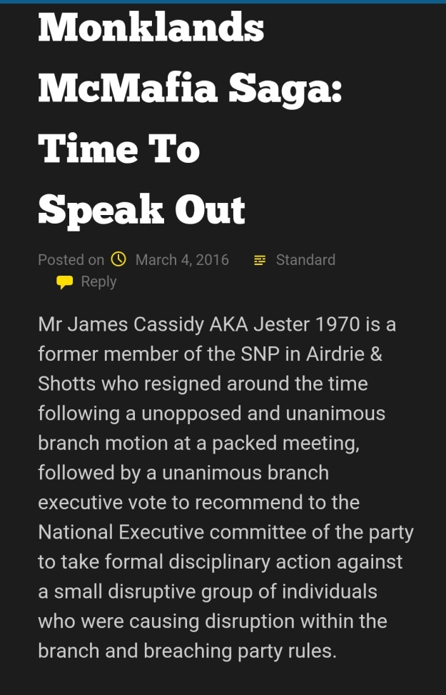 Airdrie and Shotts SNP Official Blog: Screenshot 1